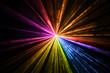 canvas print picture - Multicolor laser light beams rainbow taken in the dark room