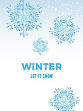 Winter Let It Snow Composition...