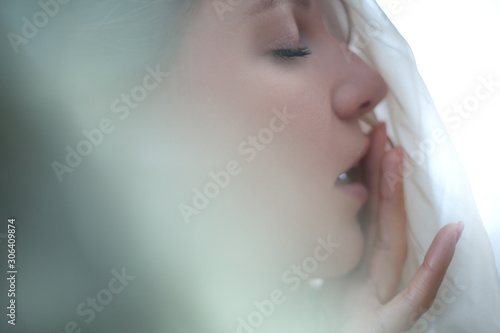 close up of sensual woman in sexual arousal Fototapete