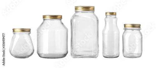 Photographie Empty jar isolated on white background