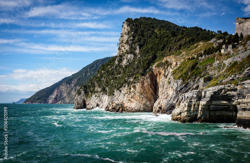 Rocky Coastline of Porto Venere, Ligurian Coast, La Spezia, Italy Canvas Print