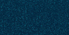 Matrix Abstract Background With Binary Numbers. Futuristic Background With Code Or Data, Vector Matrix Wallpaper Illustration.
