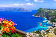 canvas print picture Italian summer holidays - beautiful Capri island, Campania, Italy