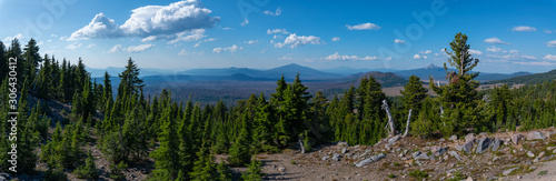 Fototapety, obrazy: Panorama from Crater Lake National Park in Oregon