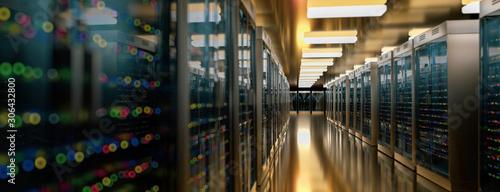 Fotografía Server room data center