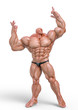 bodybuilder man pose one