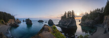 Panorama Of Secret Beach In Or...