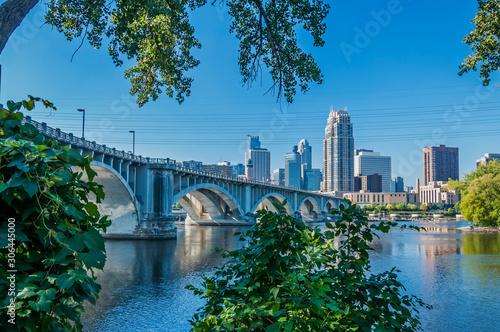 St Anthony Main; Minneapolis, Minnesota: Third Avenue Bridge Canvas Print