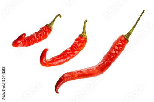 Foto op Aluminium Hot chili peppers Red hot chili pepper isolated on a white background