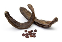 Carob Pods And Seed On A White Background_02