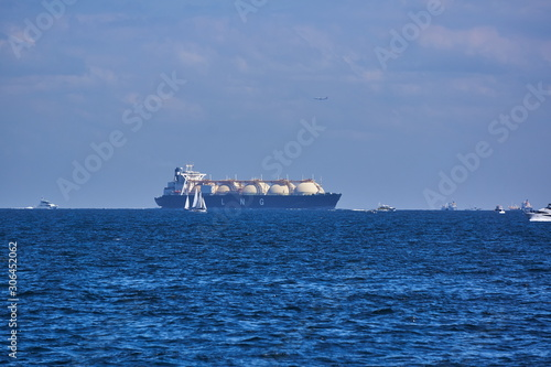 Photo 神奈川県 三浦半島から見た東京湾