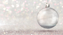 Magic Snow Ball Hanged As Chri...