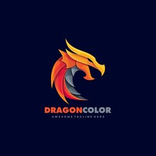 Dragon Fire Gaming Style Logo Vector Template