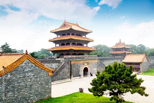 Photo  Qingzhaoling construction in zhaoling park, Zhao Mausoleum park, shenyang, liaoning, China