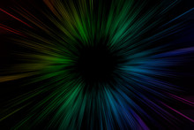 3D Rendering Dazzling Radiation Beam, Sense Of Science And Technology, Sense Of Speed, Sense Of Perspective Space Abstract Background.