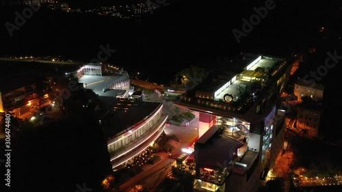 Fotografia  Aerial view of Hong Kong Skyline at night