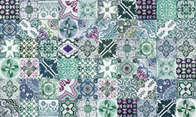 Collage Of Green And Blue Tiles