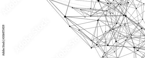 Futuristic plexus panorama background design illustration