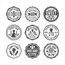 Badge Stamps Candy Shop Collec...