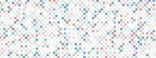Pixels And Small Squares. Abstract Background With Blocks.