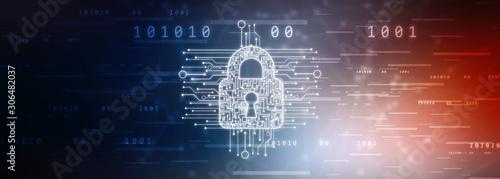 Fotomural  2d ,illustration,security,safe,lock,protection,cyber, crime,criminal,concept,saf