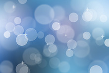 Abstract Blue Color Bokeh Back...