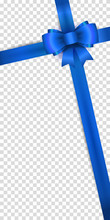 Realistic Vector Blue Bow And ...