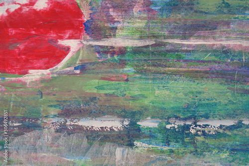 Foto auf Leinwand Darknightsky Red and green abstract color illustration