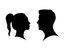 Couple Man And Woman Profile S...