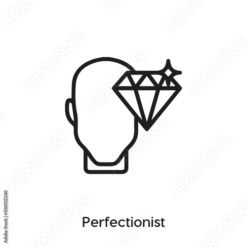 perfectionist icon vector sign symbol Wallpaper Mural