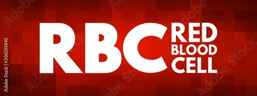 RBC - Red Blood Cell acronym, medical concept background Wallpaper Mural