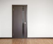 Wooden Door In Empty Room Copy...