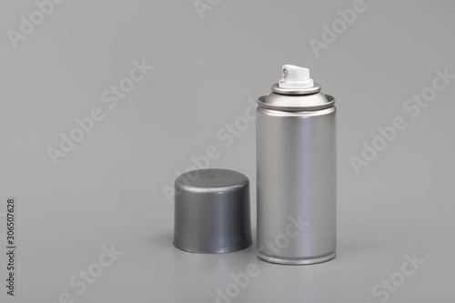 Photo aerosol spray can with copy space
