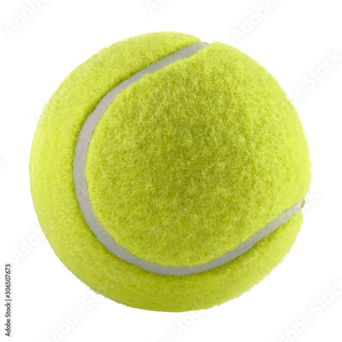 tennis ball isolated without shadow - photography Canvas Print