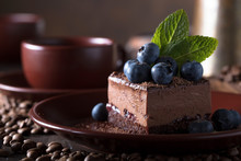 Chocolate Cake With Blueberrie...