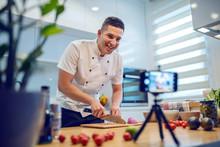 Smiling Caucasian Chef In Unif...