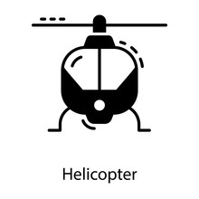 Helicopter Solid Vector
