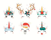 Christmas Set With Cute Unicor...