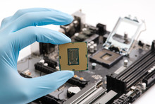 Hand Hold Cpu Processor Of Pc,...