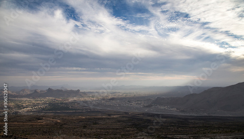 landscape in the Omani mountians Poster Mural XXL