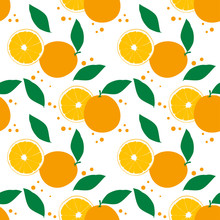 Seamless Pattern With Oranges....