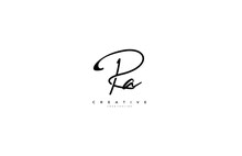 Signature Logotype Letter PA Monogram
