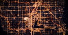 Aerial Night View Of City Of L...