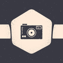 Grunge Photo Camera Icon Isola...