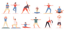 Yoga Poses And Exercises Flat ...