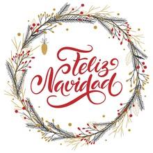 Vector Card Merry Christmas Tr...