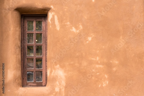 Photo Old Southwestern Adobe Wall and Window