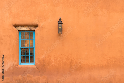 Old Southwestern Adobe Wall and Window Canvas Print