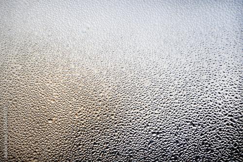 A foggy window close-up Tablou Canvas