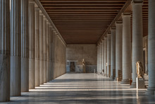 Passage With Marble Ionic Colu...